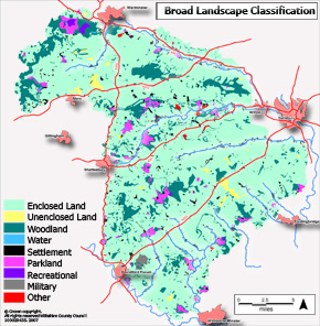 Broad brush map of Historic Landscape Character